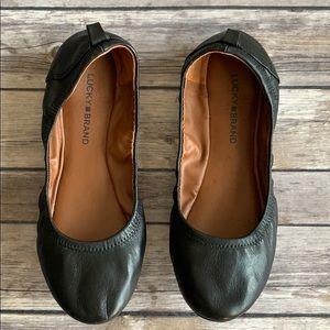 Lucky Brand Black Ballerina Flats size 9M